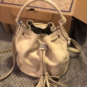 Small cream Brighton bucket tote